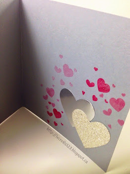 Linda Vich Creates: Hugs, Kisses and Valentine Wishes. Traditional Stampin' Up! Valentine card with two intertwined silver hearts, nestled on a Fancy Fan embossed matte, finished off with silver ribbons, button and sentiment stamped on a silver ticket.