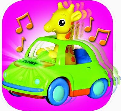 Đồ chơi Hươu con lái xe ô tô có nhạc và có đèn rất sinh động