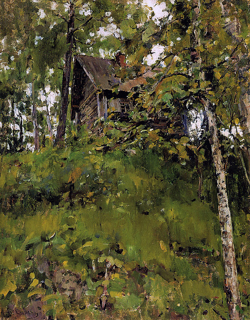 Valentin Serov - Old bath house in Domotkanovo