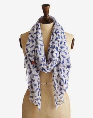 Wensley hare print scarf by Joules