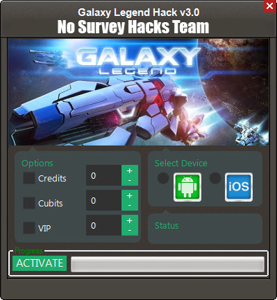 Galaxy Legend No Survey Hack