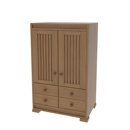 Hillside Armoire Dresser in Natural Oak