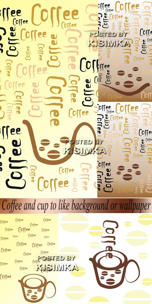 Stock Photo: Coffee and cup to like background or wallpaper