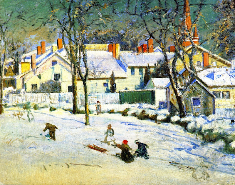 Theodore Wendel – Sledding, Ipswich, Massachusetts