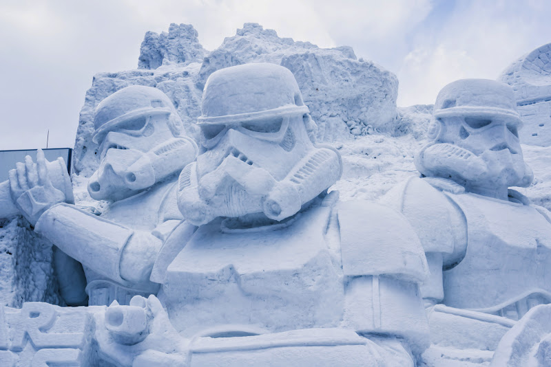 さっぽろ雪まつり 雪のスター・ウォーズ 写真4