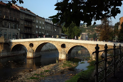 Latin Bridge in Sarajevo where World War I started in Bosnia