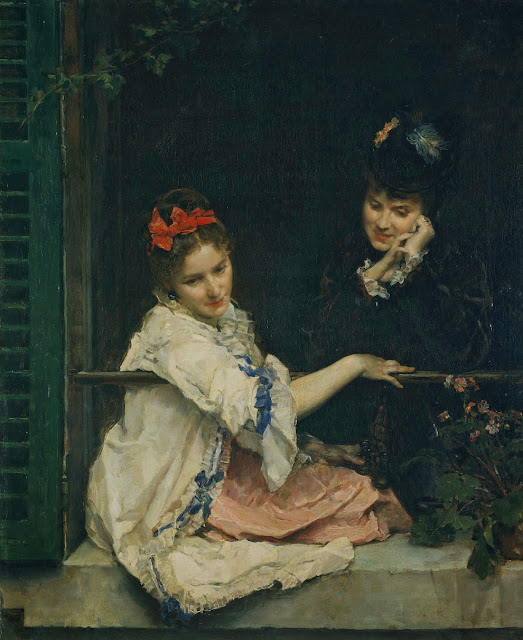 Raimundo Madrazo - Girls at a Window