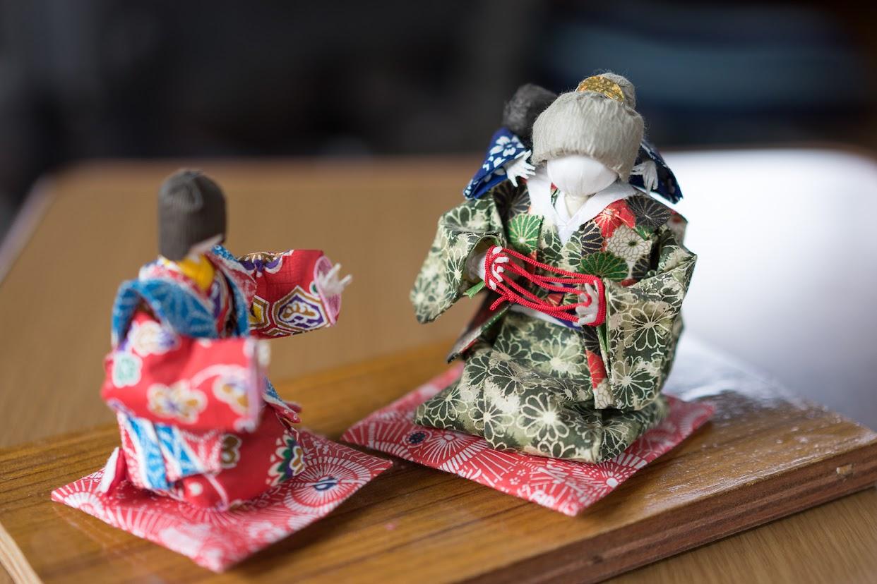 川本富美子さん作・和紙人形