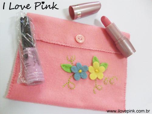 Sorteio 2 Anos I Love Pink - necessarie, batom e esmalte