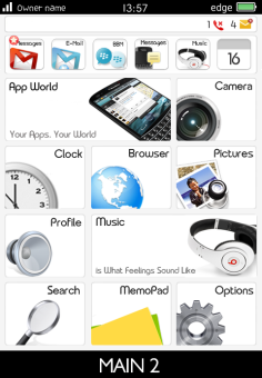 iWeb Theme v1.6.4 for BlackBerry Preview 2