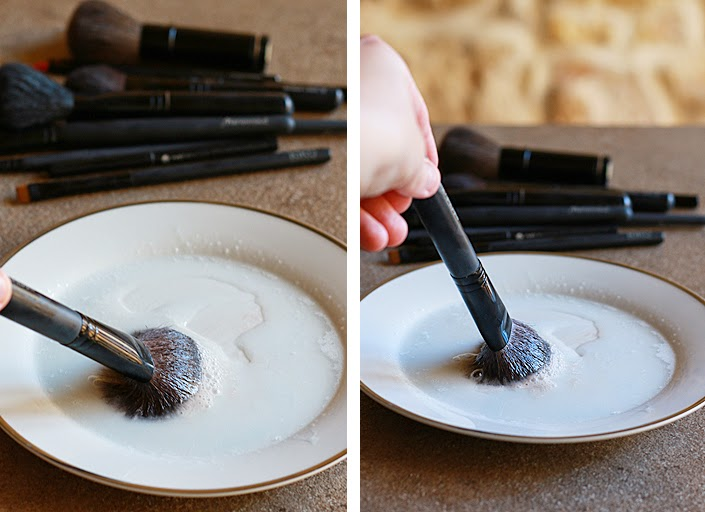 how to clean your makeup brushes, disinfect make up brush, brush cleaning, coconut oil, maintaining makeup tools