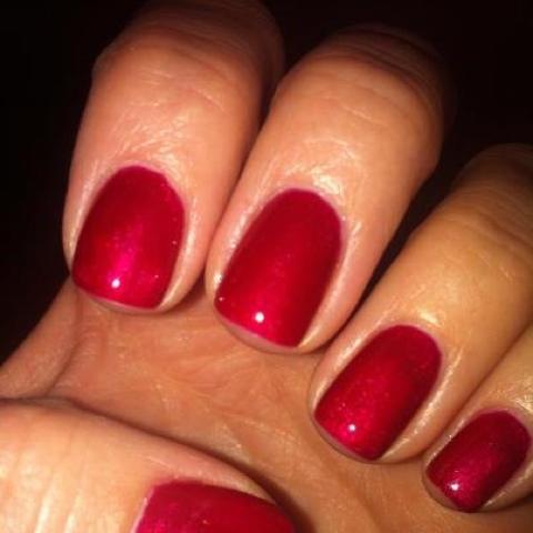 The Nail Spa At Halos Cnd Shellac Red Baroness My New Favorite