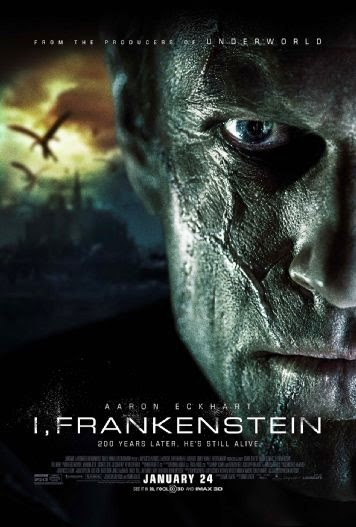 Poster Of English Movie I, Frankenstein (2014) Free Download Full New Hollywood Movie Watch Online At Alldownloads4u.Com