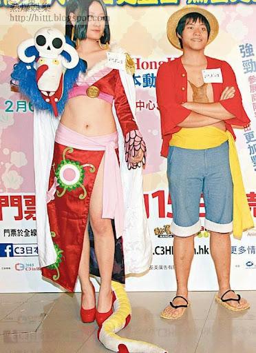 大會昨邀請喜歡玩cosplay的年輕人出席。