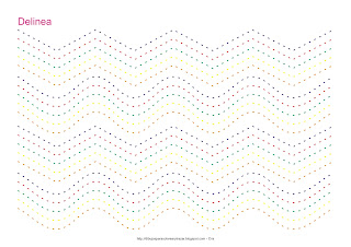 Dibujo para delinear y trazar líneas de varios colores