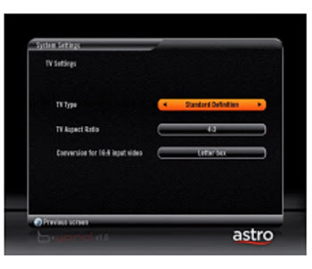 astro beyond HD configuration