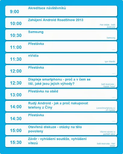Android roadshow - program
