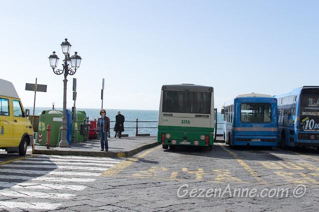SITA otobüsleri, Amalfi, İtalya