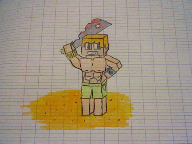 Coloriage Minecraft 1