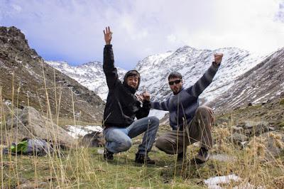 Disfrutando de la montaña