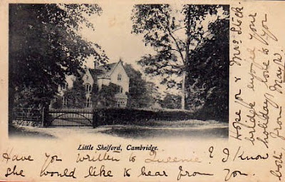 Postcard featuring the former Rectory, Church Street, Little Shelford