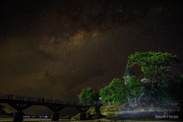 Milkyway dari barat Pura Amerta Jati