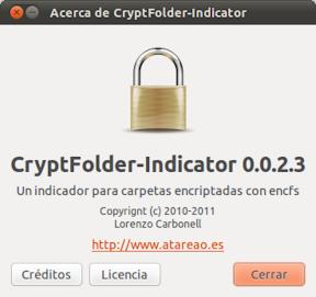 UBUNTU: CryptFolder-Indicator 0.0.2.3