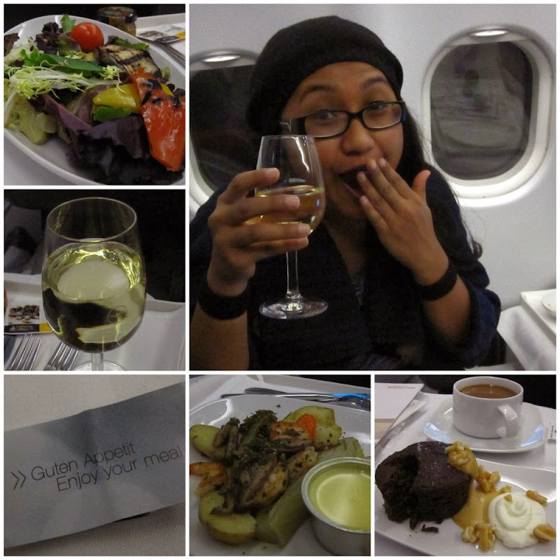 Dinner on Lufthansa's business class