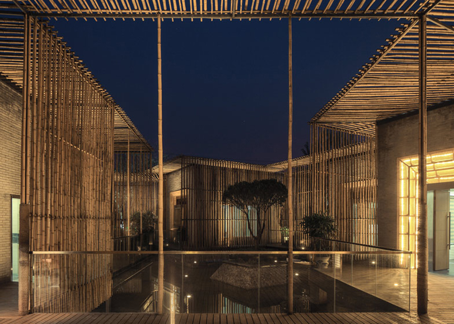 Bamboo Courtyard Teahouse design by HWCD Associates