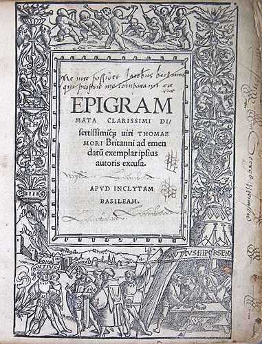 an analysis of utopia an essay by sir thomas more The essay to the analysis of the prefatory/postscript letters appended to the early  latin editions of utopia rather than expand on the entire paratext of the project5 .