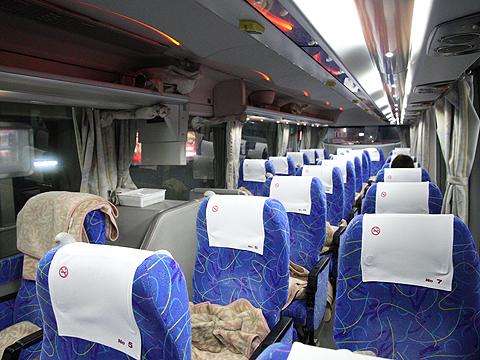 くしろバス「スターライト釧路号」 ・307 車内