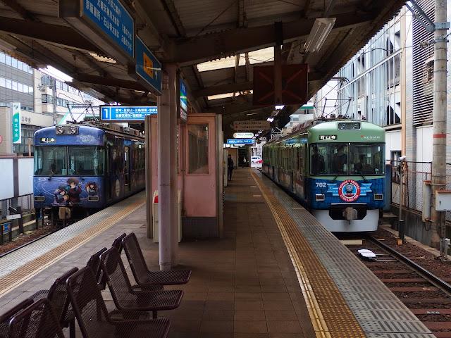 > 直後にトーマス号2015は石山寺駅に向かって 発車していきました。  大津線(京津線)の臨時走行はここまで。 久しぶりに2両編成の列車が大津線(京津線)上を 走行する姿を見る事が出来ました。  この後は石山寺駅から折り返して 坂本駅で撮影会です。    <a href=