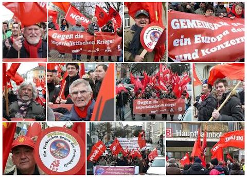Foto-Collage: Bilder von der Demo in Aachen.