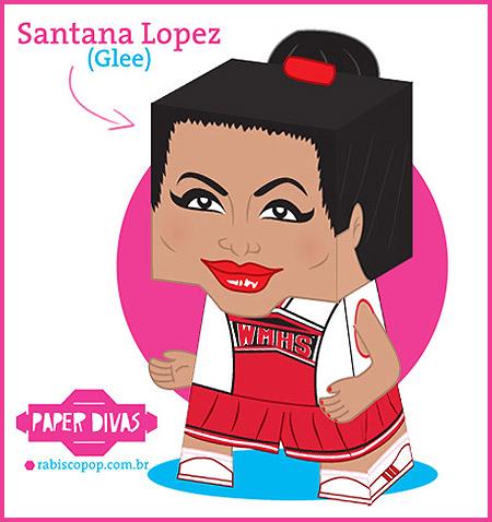 Glee Santana Lopez Papercraft