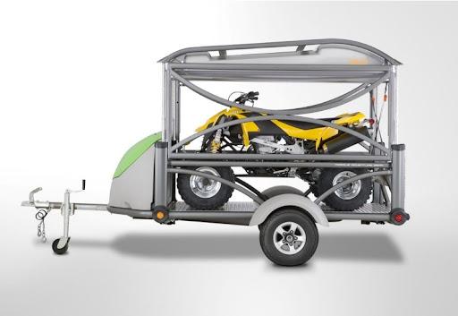 Mini Lightweight Compact Motorbike Quad Camper Trailer