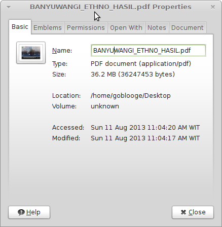 Ukuran file Hasil