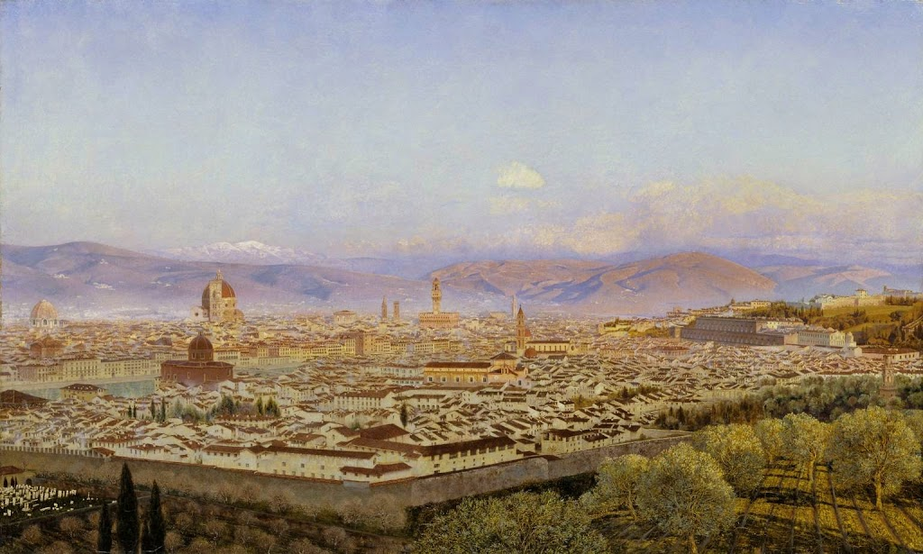 John Edward Brett - Florence from Bellosguardo 1863