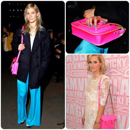 Oh Land Singer Style Fashion Neon Pink Teal