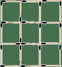 Desafio 5: Formar 5 quadrados retirando 4 palitos