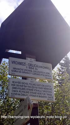 Punkt graniczny Orlica najwyższy szczyt Gór Orlickich
