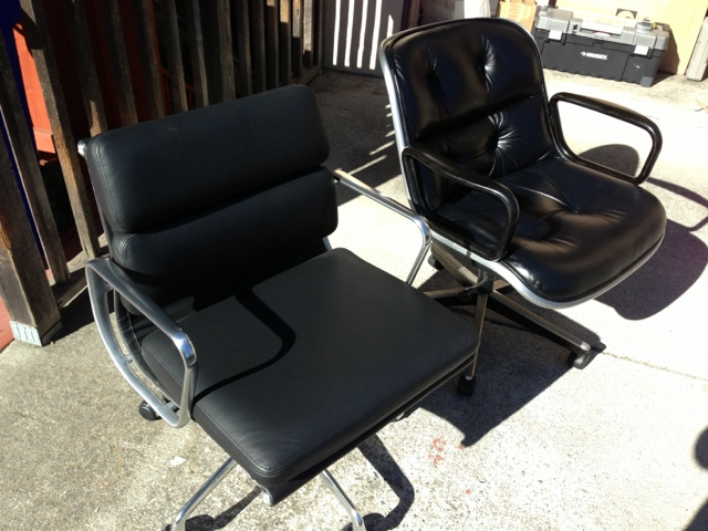 Two Of The Nicest MCM Executive Office Chairs