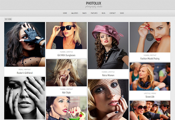 Photolux Grid Based Theme
