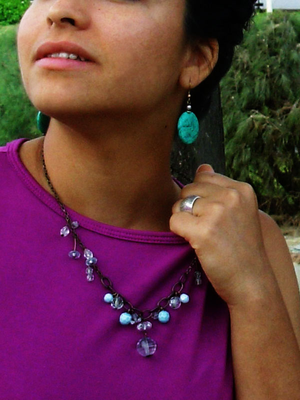 Jewel tone color outfit