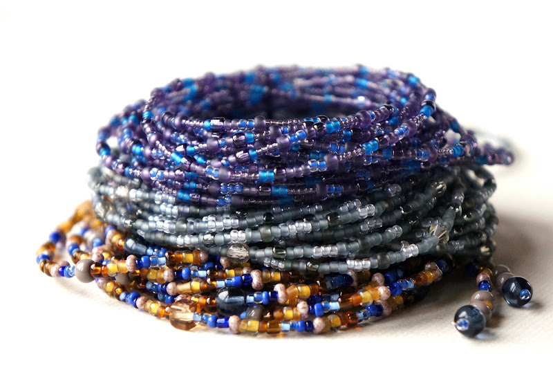 Seed bead rope necklaces