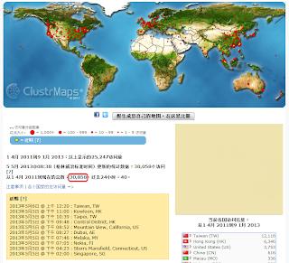國際陰陽人組織中文版官網自2011/4/1起至今點閱人次首度超過3萬!Oii-Chinese website's hits over 30000 today!