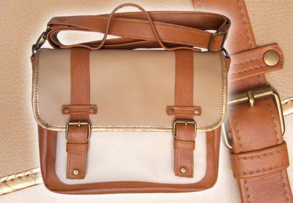 Bandolera portafolio cuero símil hebillas | Mod. 2291