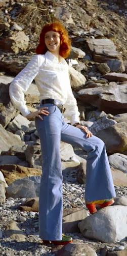 Bell-bottom jeans 1960-1970