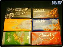 六種口味的瑞士蓮巧克力