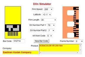 Kodacolor VR200 a DXn Simulator oldalán