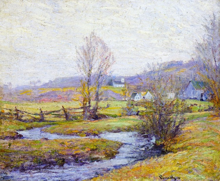 Robert Vonnoh - Early Spring, Pleasant Valley, Connecticut
